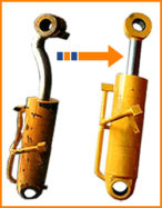 Even badly damaged hydraulic rams can be repaired.